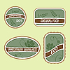 Set of Eco Natural Labels | Stock Vector Graphics