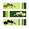 Векторный клипарт: Набор из трех орхидей баннеры