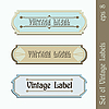 Set of Vintage Labels | Stock Vector Graphics