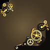 Vector clipart: Steampunk mechanical background