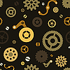 Vector clipart: Steampunk seamless pattern