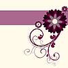 Vector clipart: Floral purple background