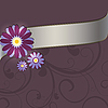 Vector clipart: Floral purple background