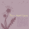 Vector clipart: Dandelion silhouette background