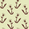 Vector clipart: Dandelion silhouette seamless