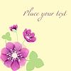 Vector clipart: Romantic Flower Background