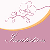 Vector clipart: Wedding invitation with orchid
