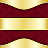 Векторный клипарт: Золотые и красные шаблон