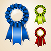 Vector clipart: Set of award ribbons