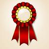 Vector clipart: Red vecor prize ribbon