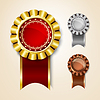 Vector clipart: Prize ribbons