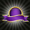 Vector clipart: Purple badge with ribbon