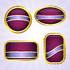 Vector clipart: Purple badges with ribbon