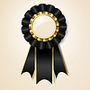 Black prize ribbon | Stock Vector Graphics