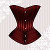 Vector clipart: Red corset