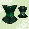 Векторный клипарт: Зеленый корсет