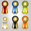 Vector clipart: Set of vecor prize ribbons