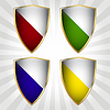 Set of four shields | Stock Vector Graphics