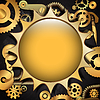 Vector clipart: Steampunk metal gear background
