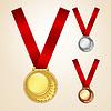 Conjunto de medallas | Ilustración vectorial