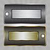 Vector clipart: Metal badges