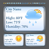 Vector clipart: Weather forecast interface
