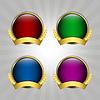Векторный клипарт: Набор круглые знаки гарантии