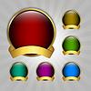 Векторный клипарт: Набор круглых эмблем гарантии