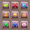Vector clipart: Gold Web icon set