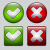 Vector clipart: Set of Yes and No buttons