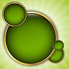 Vector clipart: Abstract background with green bubbles