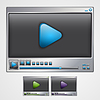 Vector clipart: Video player interface