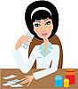 Vektor Cliparts: Ärztin Frau