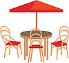 Векторный клипарт: Летнее уличное кафе