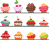 Cupcakes set | Stock Vector Graphics