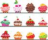 Vector clipart: Cupcakes set