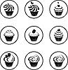 Векторный клипарт: набор кексов
