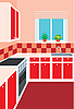 Векторный клипарт: Мебель для кухни. Интерьер