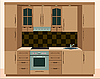 Kitchen furniture. Interiors | Stock Vector Graphics