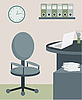 Vector clipart: Office furniture