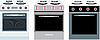 Vektor Cliparts: Küchenherde. drei verschiedene