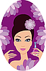 Beautiful woman with nail polish