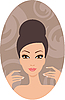 Vector clipart: Beautiful woman. French manicure
