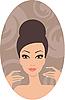 Векторный клипарт: Красивая женщина. Французский маникюр