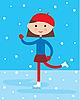 Vector clipart: Girl on skating rink