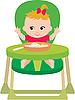 Vector clipart: Child eats.