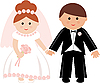 Wedding couple | Stock Vector Graphics