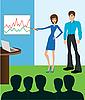 Vector clipart: Business meeting. Presentation