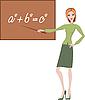Vector clipart: Teacher explains the theorem