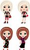 Four girls cartoon